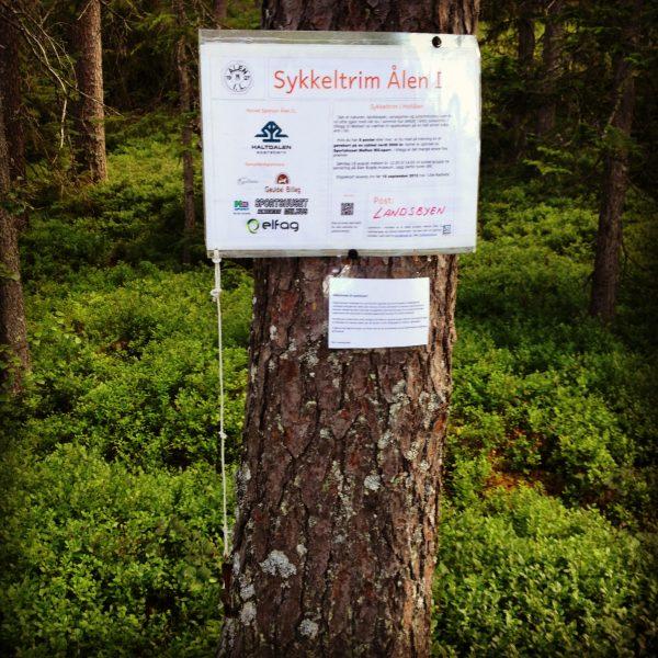 Landsbyen er en av postene på Sykkeltrim i Ålen :)