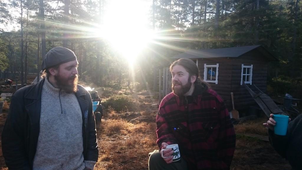 To fornøyde arrangører etter Downhill. Foto HC Brimi